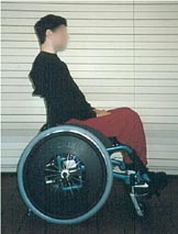 Figure 3: Proper ears-over-shoulders-over-hips alignment is achieved in this wheelchair configuration.